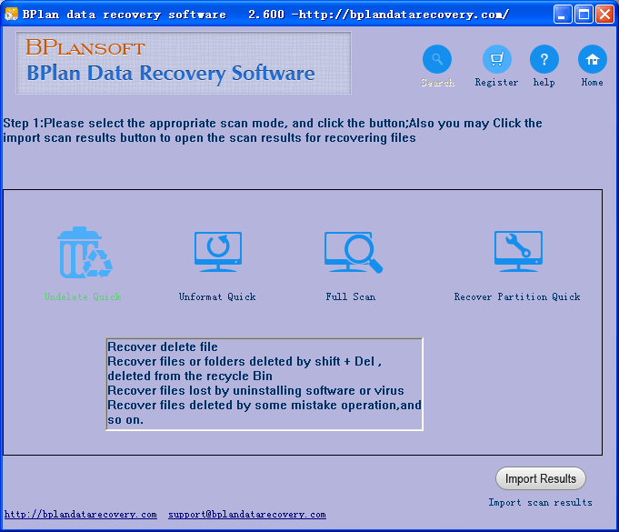 BCR PC partition data recovery